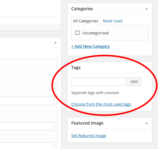 WordPress article - Tags