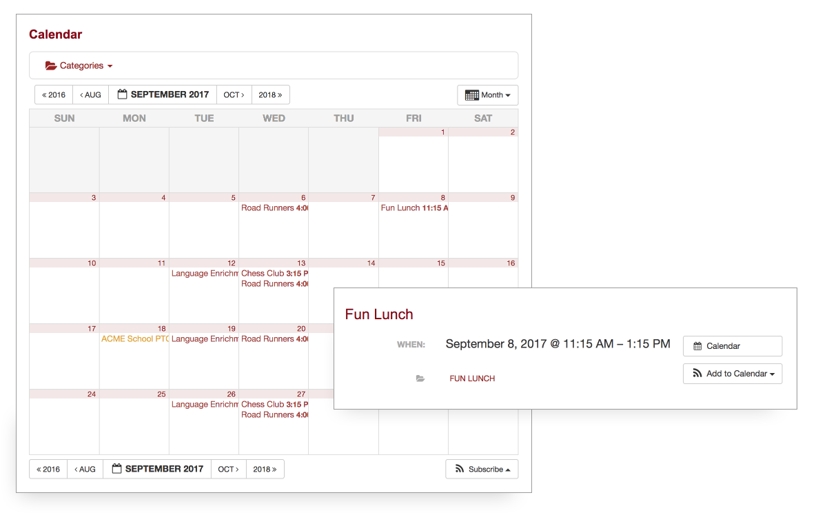 Addscreenshot of PTO events to your calendar